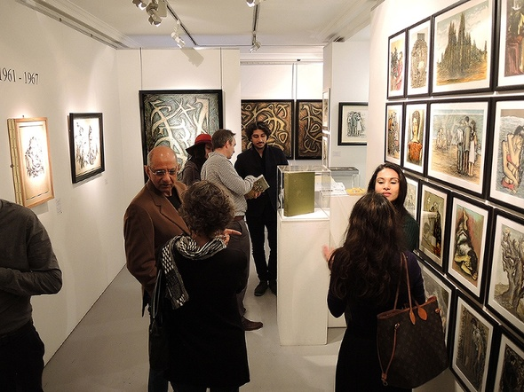 Sadequain in Paris, installation shot