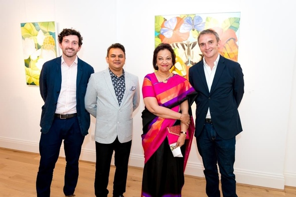 Charles Moore, Hon. High comissioner of Sri Lanka Ms. Amari Wijewardene, Premal Sanghvi and Conor Macklin