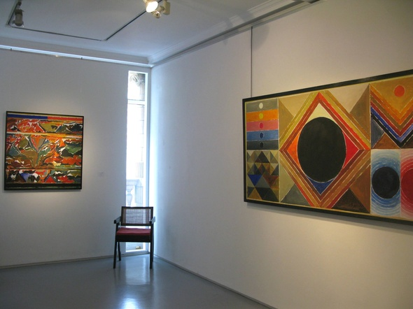 SH Raza, Bindu Vistaar installation shot