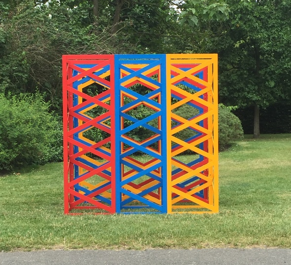 Rasheed Araeen, Summertime - The Regent's Park, 2017