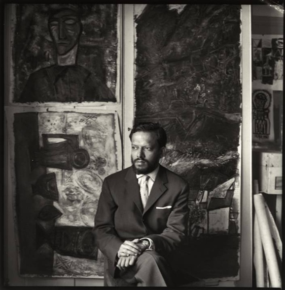 Ida Kar, F.N. Souza in his studio, 1958, limited edition of 10