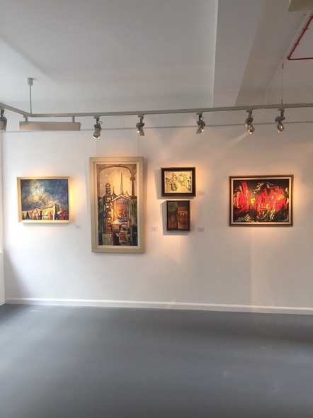 Installation shot: Indian Modernist Landscapes